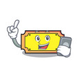 with phone ticket character cartoon style vector image