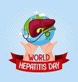 world hepatitis day logo or banner with hands vector image vector image