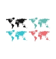 World map countries geography vector image