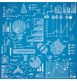 business charts graphs stats doodles set vector image