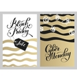 black friday and cyber monday design on gold brush vector image