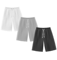 Sport shorts template vector image