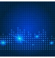 Blue technology city background vector image