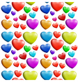 A seamless colorful heart pattern vector image