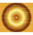 Abstract dark golden technical circle background vector image vector image