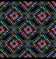 abstract embroidered paisley seamless pattern vector image vector image