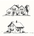 Architect draft houses drawn vector image vector image