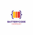 battery code logo design vector image vector image