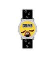 blue digital kids watch with dog vector image