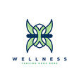 body health and fitness logo design vector image vector image