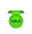 bookmark with sale message vector image vector image