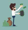 Businessman corruption concept vector image vector image