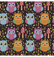 Childish seamless pattern with cute owls vector image vector image