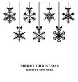 christmas decorative snowflakes card vector image vector image