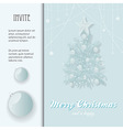 Christmas invite with bauble and Tree vector image