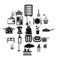 clean up icons set simple style vector image vector image