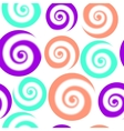 Colorful pattern of circles with swirls Abstract vector image vector image