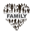 Conceptual background with happy family vector image vector image