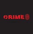 crime prevention with a fingerprint vector image