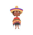 cute smiling mexican boy in national clothes and vector image vector image