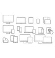 devices line icons for responsive design vector image