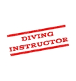Diving Instructor Watermark Stamp vector image