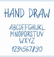 dynamic hand drawn brush pen uppercase font with vector image vector image