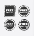free delivery stamp 3 vector image vector image