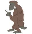 funny gorilla ape cartoon animal character vector image vector image