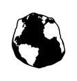 geoid shape atlantic ocean vector image vector image