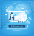 global education web banner with copy space on vector image vector image