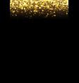 gold glitter texture irregular confetti border on vector image vector image