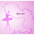 Greeting card with tender ballerina holding a vector image vector image