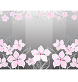 grey flower background vector image vector image