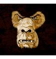 grunge gorilla face vector image vector image