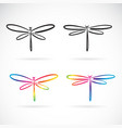 hand drawn doodle style dragonfly isolated on vector image vector image