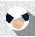 hand shake design vector image vector image