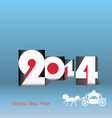 Happy New Year 2014 - vector image