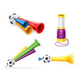 horn attribute football soccer and sports fans vector image vector image