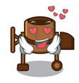 in love concrete mixer mascot cartoon vector image vector image