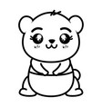 isolated cute panda bear vector image vector image