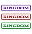 kingdom watermark stamp vector image