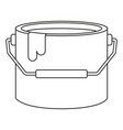 line art black and white paint bucket vector image