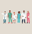 medical people doctors and nurses portraits team vector image