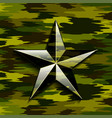 military camouflage star vector image vector image