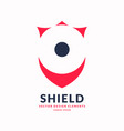 modern minimalistic emblem shield vector image vector image