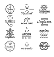 Nautical logos in hipster style vector image