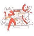 online education flat concept - curious vector image