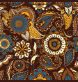 oriental seamless pattern with ethnic buta motifs vector image