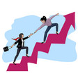 people on a way to success3 vector image